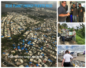 Collage of pictures. People working together. image of neighborhood taken by a drone.