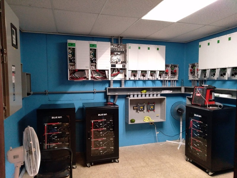image of battery storage systems
